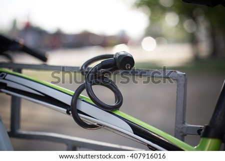 Lock for bicycle - stock photo