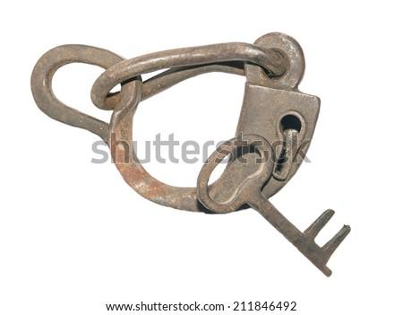 lock horse isolated on white background - stock photo