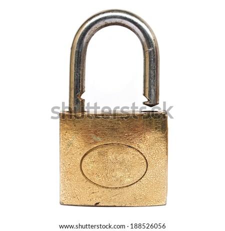Lock - isolated on white - stock photo