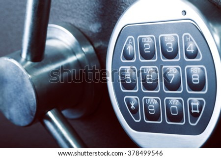 lock, safe, bank, protection, security - stock photo
