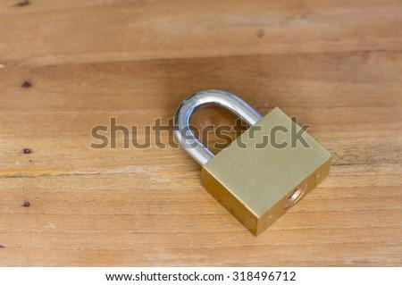 Locker on the wood - stock photo