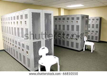 Lockers - stock photo