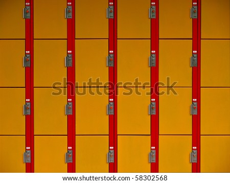 Lockers wallpaper front view - stock photo