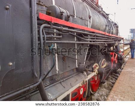 Locomotive.  - stock photo