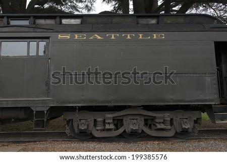 Locomotive at Northwest Railway Museum, Snoqualmie, Washington State, USA - stock photo