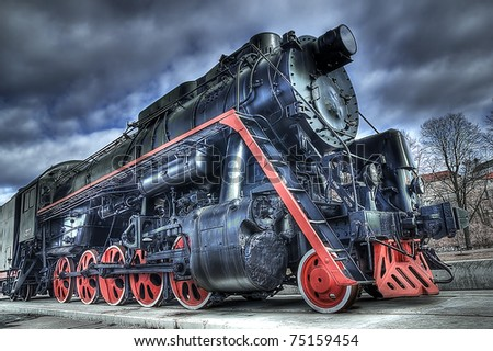 Locomotive train - stock photo
