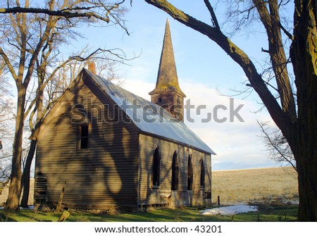 Locust Grove Church - stock photo