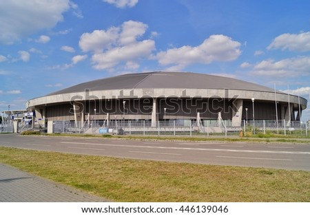 LODZ, POLAND, JUNE 12 2016: Sports Hall, Atlas Arena In Lodz