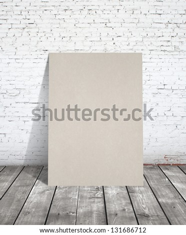 loft interior with brown poster - stock photo