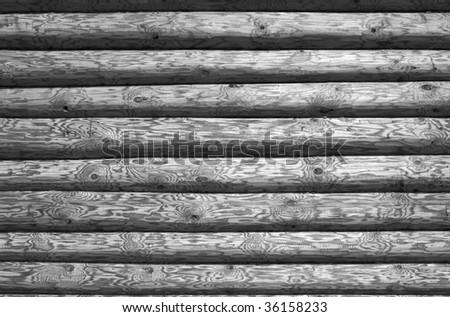 Log background in grey tones - stock photo