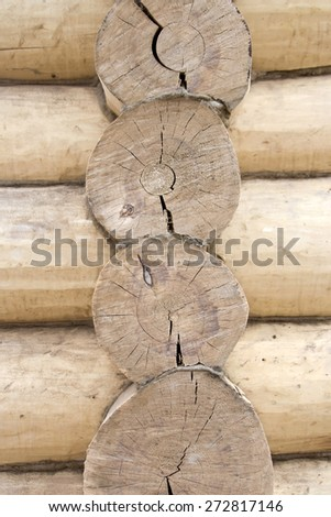 Log house texture - stock photo