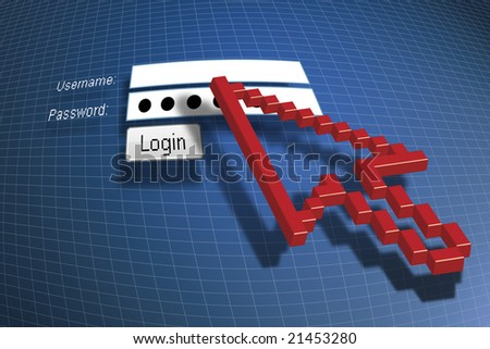 Log-in - stock photo