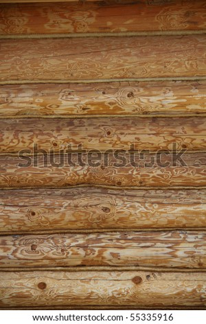 log wall surface, wooden background