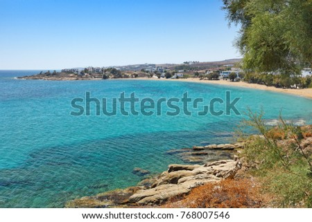 Logaras beach in Paros island, Greece