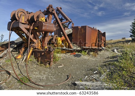 Logging equipment destroyed in the Mount Saint Helens eruption 30 years ago - stock photo