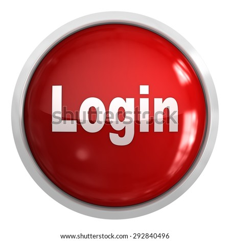 Login Button , isolated on white. - stock photo