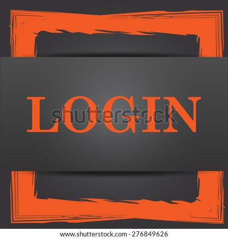 Login icon. Internet button on grey background.  - stock photo