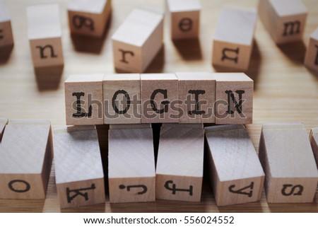 Upload Word Wooden Cube Stock Photo 595702487 Shutterstock