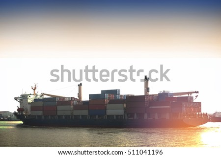 Logistics and transportation of Container Cargo ship and Cargo