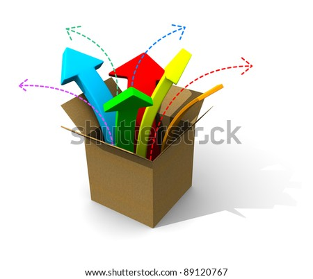 logistics box concept - stock photo