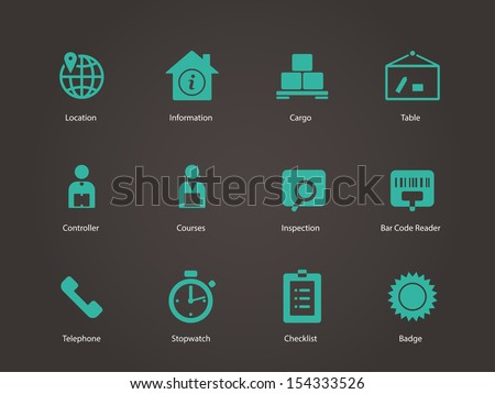 Logistics icons. See also vector version. - stock photo
