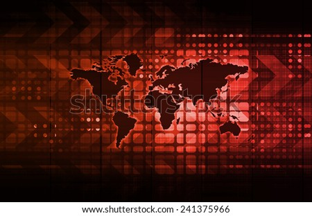Logistics Technology Concept as a Company Worldwide - stock photo
