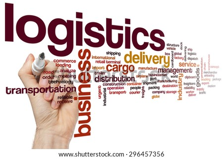 Logistics word cloud concept - stock photo