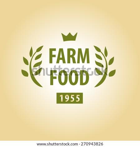 Logo for farming. Premium quality. - stock photo
