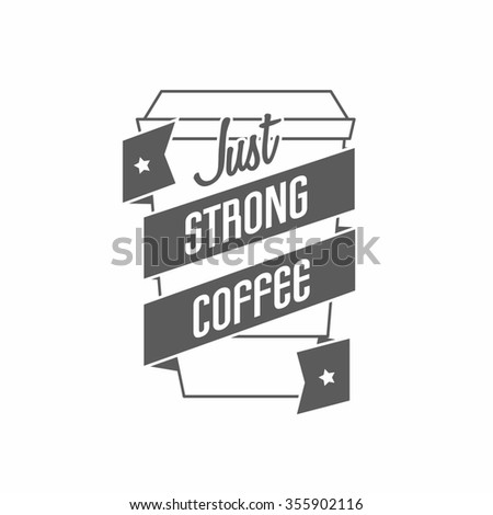 logo for restaurant, cafe, bar, coffee house. On white background - stock photo