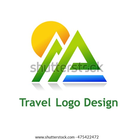 Logo for tourist industry: hotel, travel agency, outdoor company.