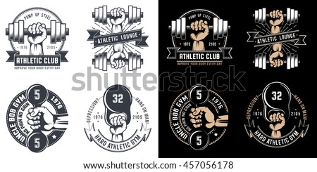 logo tattoo gym on white dark stock illustration 457056178 shutterstock. Black Bedroom Furniture Sets. Home Design Ideas