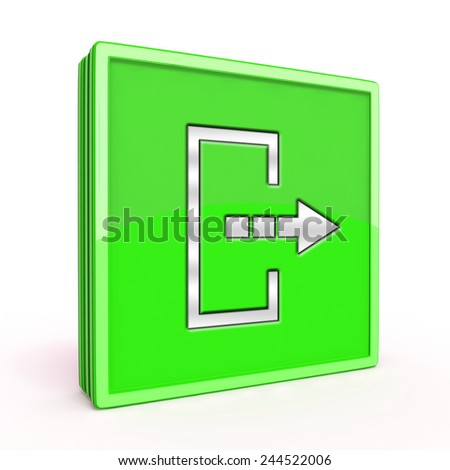 Logout square icon on white background
