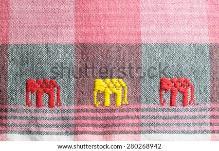 loincloth fabric of Thailand ,traditional loincloth in Asian
