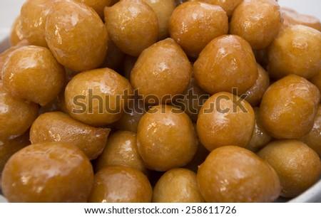 Lokma - traditional turkish pastry - stock photo