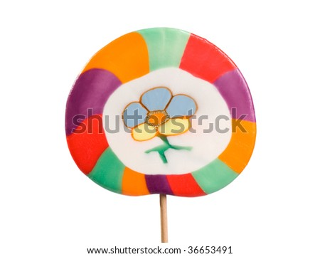lollipop isolated on white - stock photo