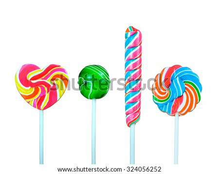 Lollipop on a white background