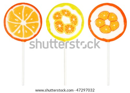 Lollipop on a white background. - stock photo
