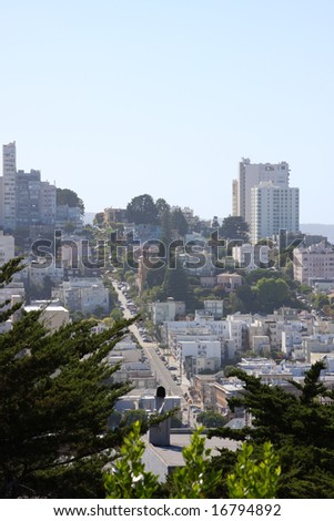 Lombard Street, view from Coit Tower