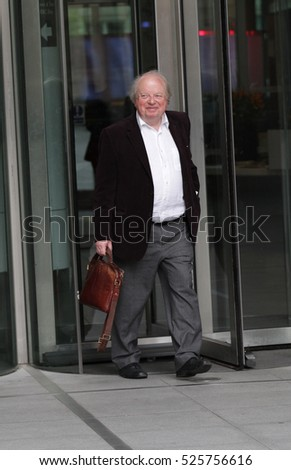 LONDON - APR 19, 2015: John Sergeant seen leaving the BBC building at broadcasting House on Apr 19, 2015 in London