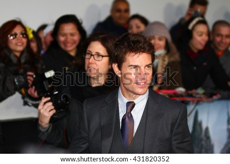 LONDON - APR 4, 2013: Tom Cruise attends The UK Premiere Of Oblivion at the BFI IMAX on Apr 4, 2013 in London