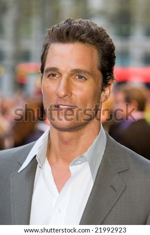 LONDON -  10 APRIL:  Matthew McConaughey at the European Premiere of 'Fool's Gold'. Held at the Vue cinema, Leicester Square, London, 10 April 2008. - stock photo