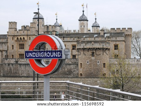 LONDON - APRIL 15: Transport for London announced that the 'Underground' logo will also be used for other transportation systems in London on April 15, 2011. - stock photo