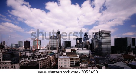 LONDON AS SEEN FROM THE MONUMENT - stock photo