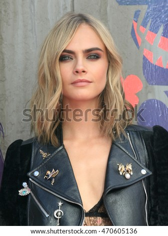 LONDON - AUG 03, 2016: Cara Delevingne attends the Suicide Squad film premiere on Aug 03, 2016 in London