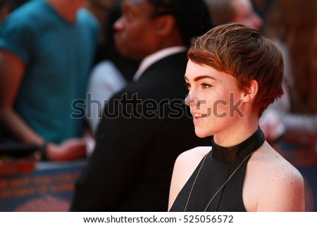 LONDON - AUG 12, 2014: Chloe Howl attends the UK Premiere of What if at the Odeon West End on Aug 12, 2014 in London