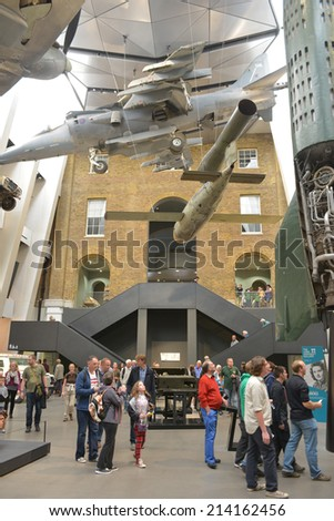 LONDON - AUG 30, 2014: The National War Museum was founded in 1917 by the UK government, the museum has recently undergone a £40m transformation. - stock photo