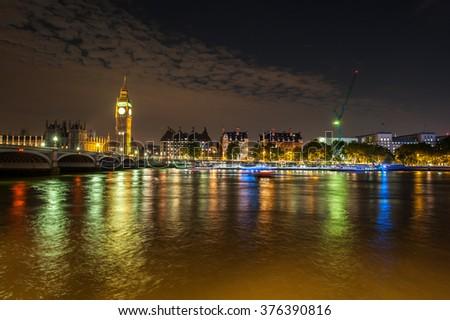 London big ben - stock photo