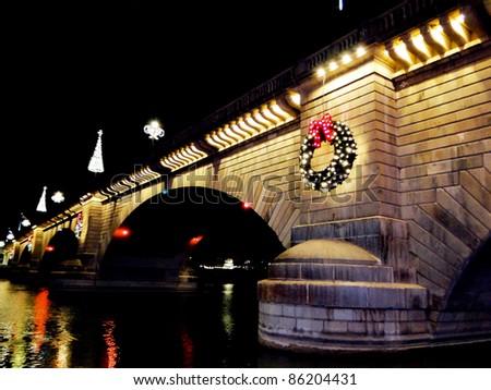 London Bridge during Christmas - stock photo