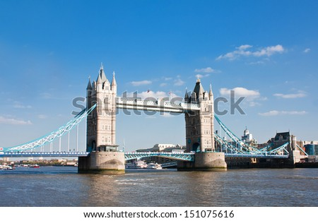London bridge during daytime, London - stock photo