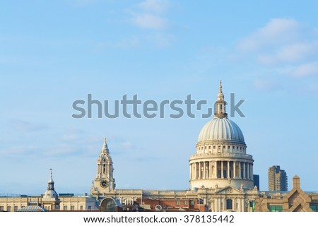 London building and blue Sky